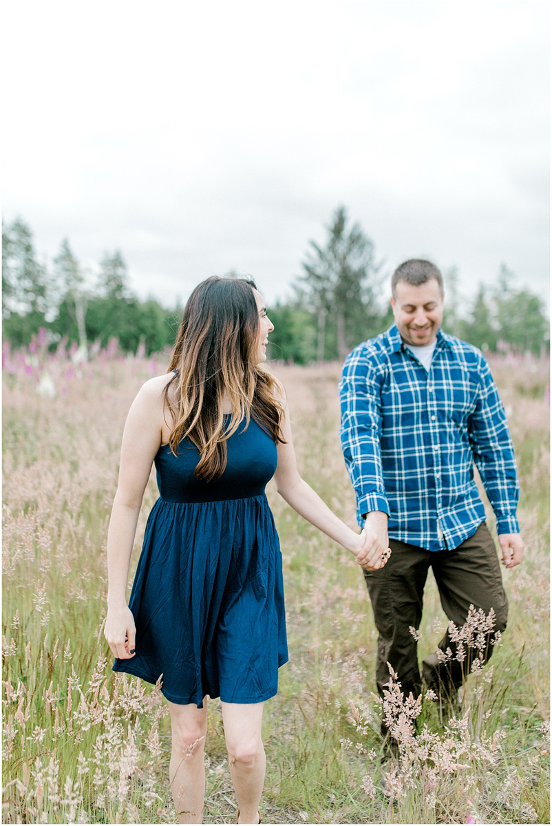 Beautiful Evening Engagement Session on Rose Ranch | Emma Rose Company Seattle and Olympia Wedding and Portrait Photographer | Engagement in Foxglove Field | Flowers | Pacific Northwest Wedding and Elopement Photographer-43.jpg