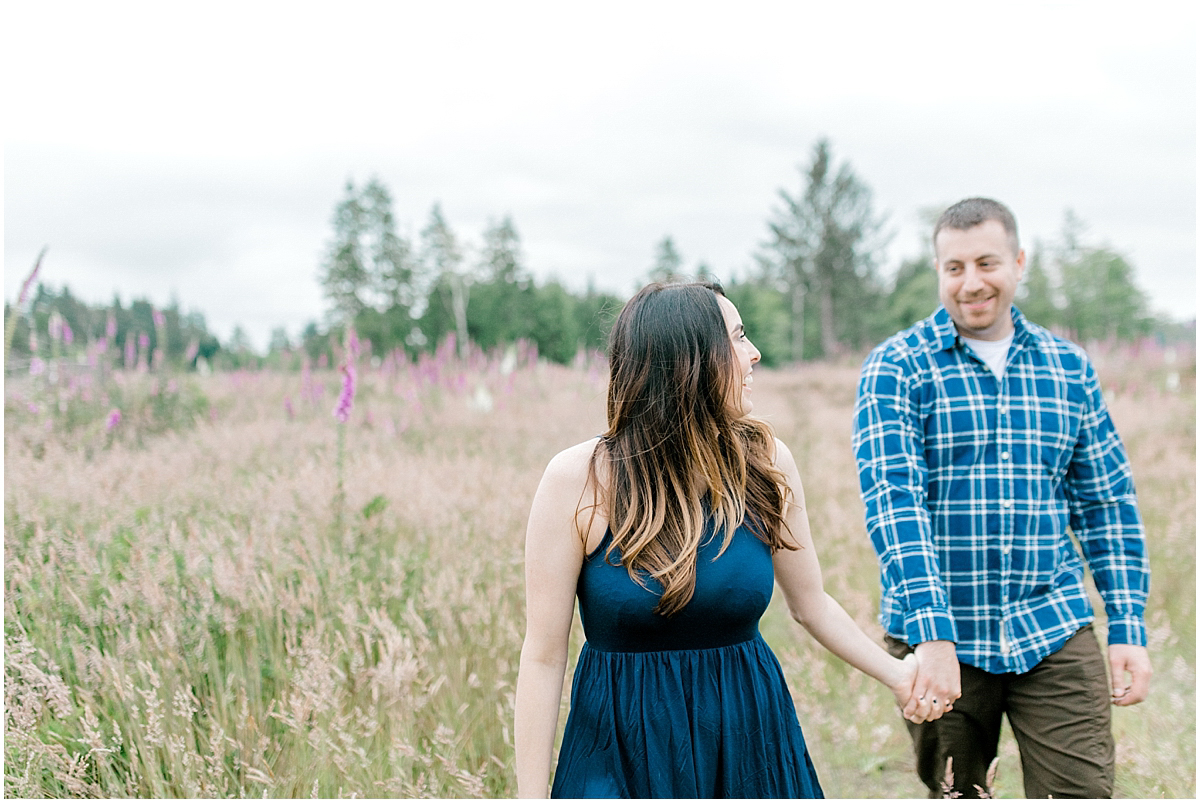 Beautiful Evening Engagement Session on Rose Ranch | Emma Rose Company Seattle and Olympia Wedding and Portrait Photographer | Engagement in Foxglove Field | Flowers | Pacific Northwest Wedding and Elopement Photographer-42.jpg