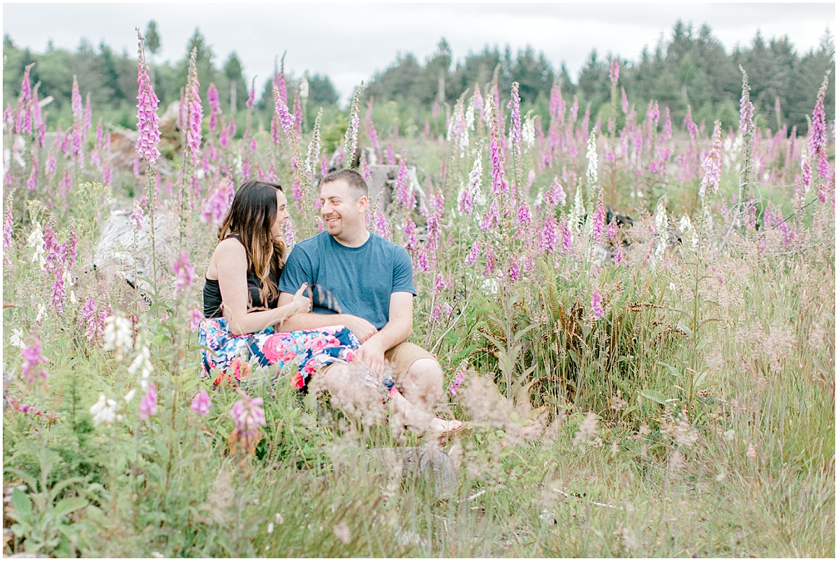 Beautiful Evening Engagement Session on Rose Ranch | Emma Rose Company Seattle and Olympia Wedding and Portrait Photographer | Engagement in Foxglove Field | Flowers | Pacific Northwest Wedding and Elopement Photographer-21.jpg