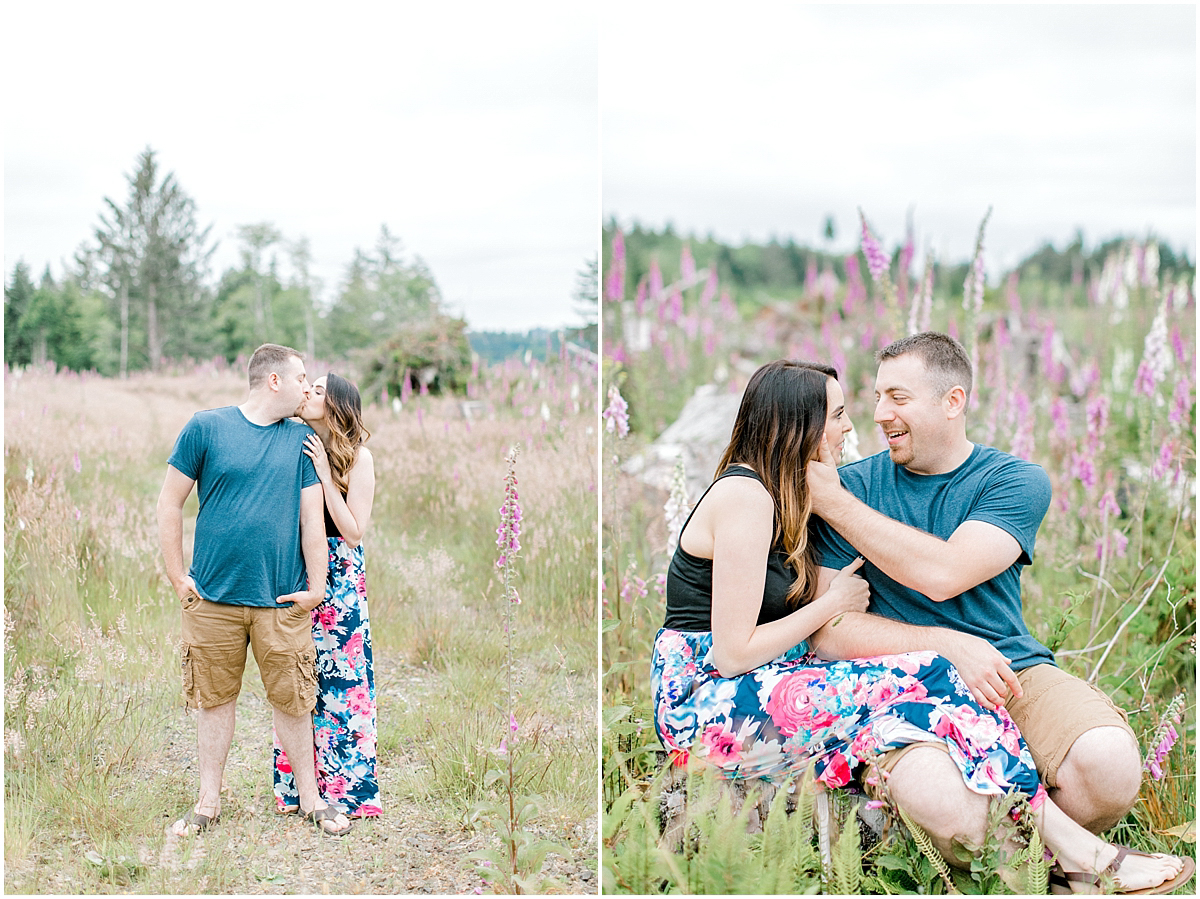 Beautiful Evening Engagement Session on Rose Ranch | Emma Rose Company Seattle and Olympia Wedding and Portrait Photographer | Engagement in Foxglove Field | Flowers | Pacific Northwest Wedding and Elopement Photographer-20.jpg