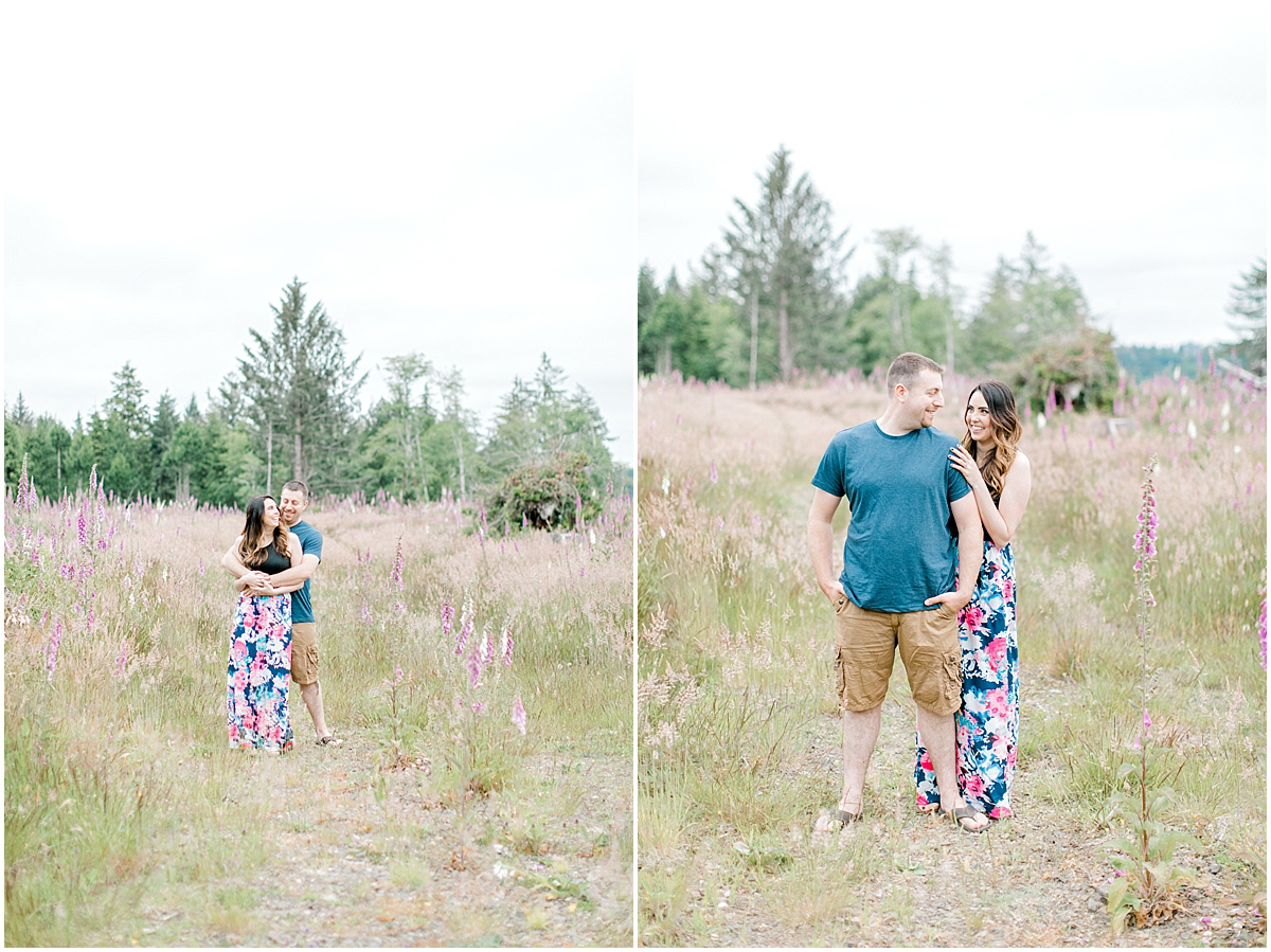 Beautiful Evening Engagement Session on Rose Ranch | Emma Rose Company Seattle and Olympia Wedding and Portrait Photographer | Engagement in Foxglove Field | Flowers | Pacific Northwest Wedding and Elopement Photographer-18.jpg