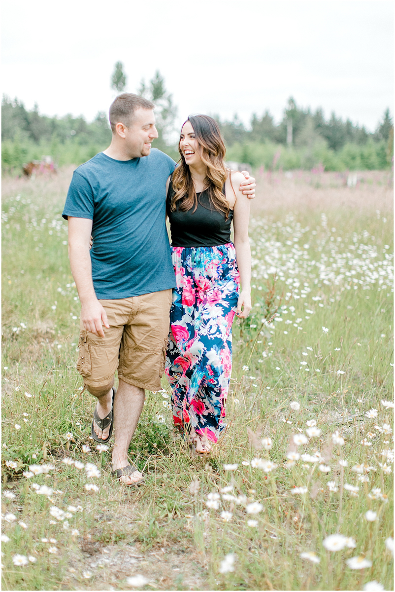 Beautiful Evening Engagement Session on Rose Ranch | Emma Rose Company Seattle and Olympia Wedding and Portrait Photographer | Engagement in Foxglove Field | Flowers | Pacific Northwest Wedding and Elopement Photographer-9.jpg