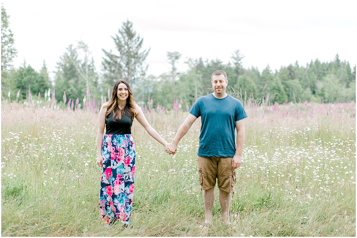 Beautiful Evening Engagement Session on Rose Ranch | Emma Rose Company Seattle and Olympia Wedding and Portrait Photographer | Engagement in Foxglove Field | Flowers | Pacific Northwest Wedding and Elopement Photographer-1.jpg