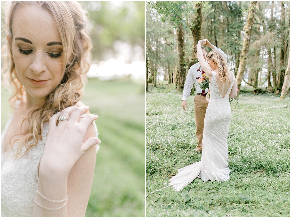 Pacific Northwest Elopement on Rose Ranch | Emma Rose Company Seattle and Portland Wedding Photographer | Engaged | Lace Wedding Gown | Peonie and ranunculus bouquet-2.jpg