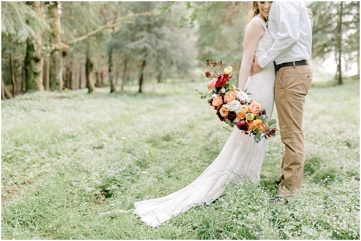 Pacific Northwest Elopement on Rose Ranch | Emma Rose Company Seattle and Portland Wedding Photographer | Engaged | Lace Wedding Gown | Peonie and ranunculus bouquet-10.jpg
