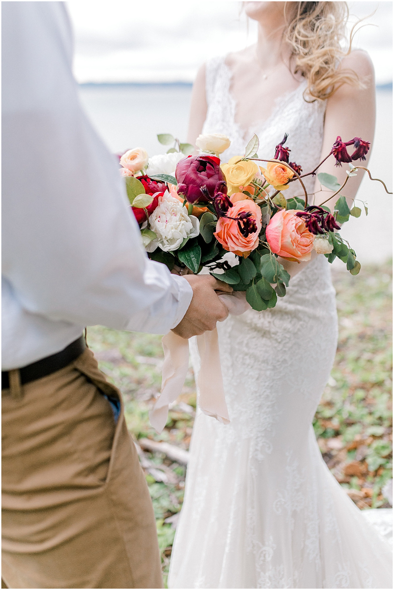 Pacific Northwest Elopement on Rose Ranch | Emma Rose Company Seattle and Portland Wedding Photographer | Engaged | Lace Wedding Gown | Peonie and ranunculus bouquet-16.jpg