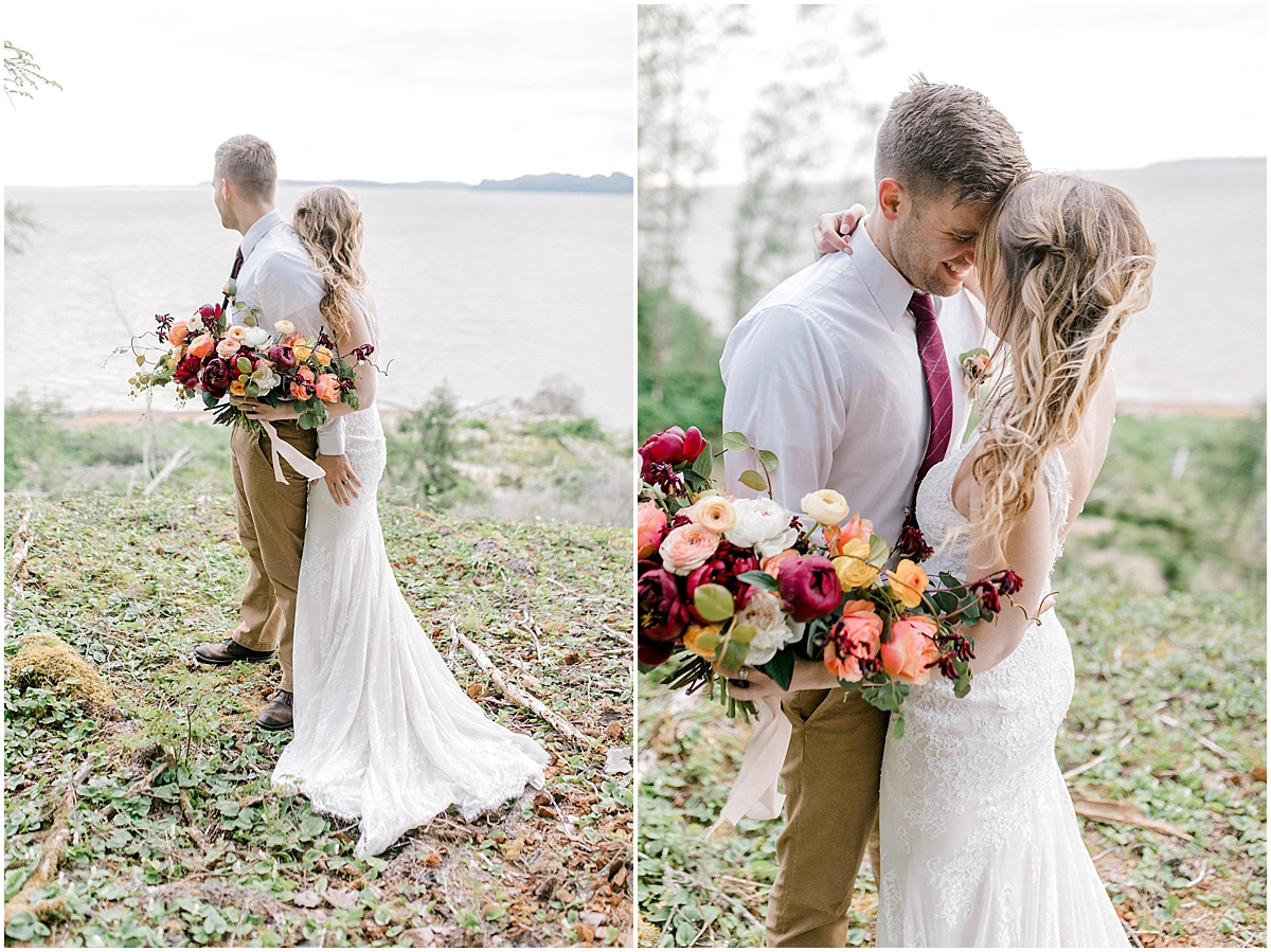 Pacific Northwest Elopement on Rose Ranch | Emma Rose Company Seattle and Portland Wedding Photographer | Engaged | Lace Wedding Gown | Peonie and ranunculus bouquet-19.jpg