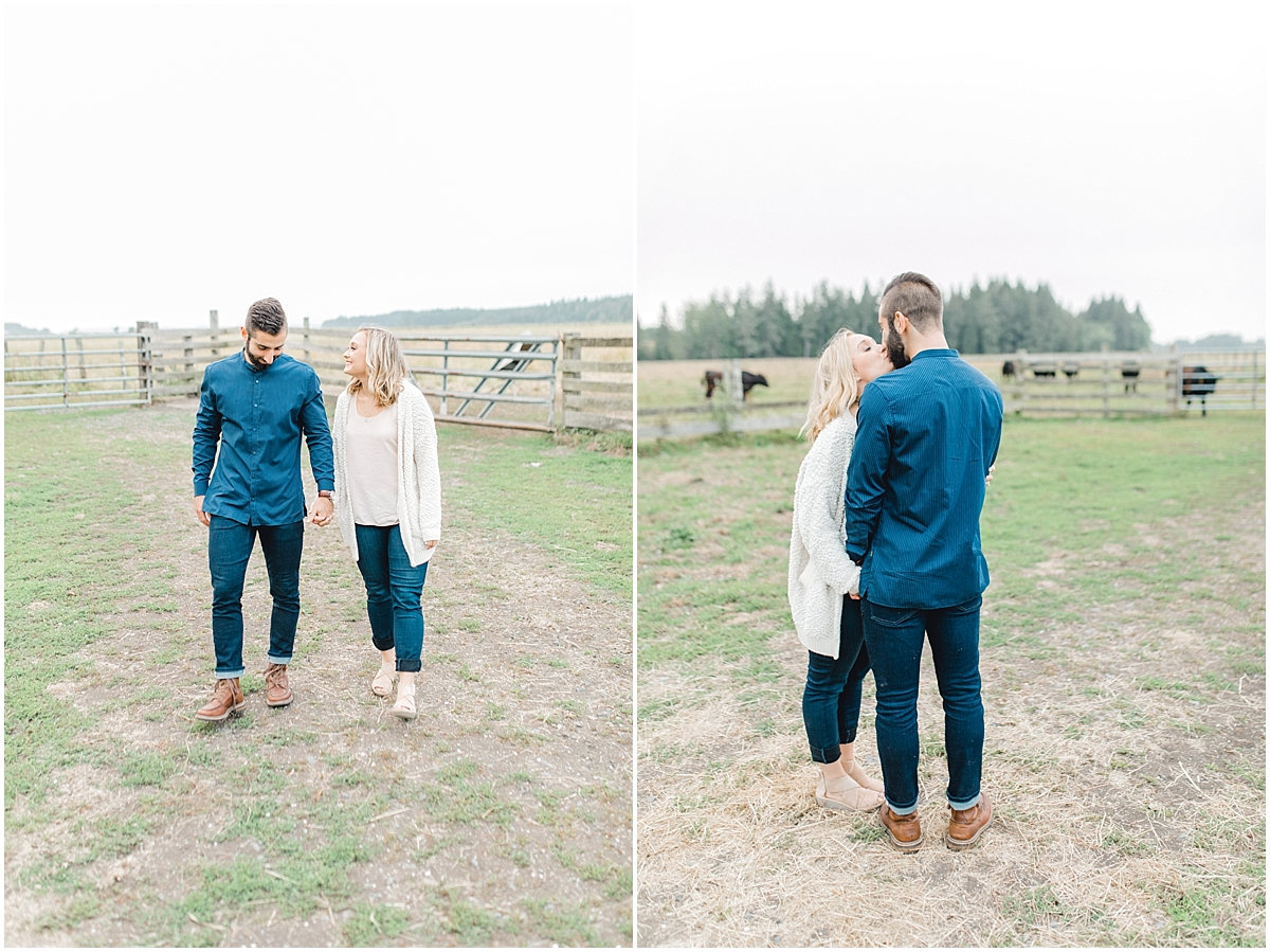 Emma Rose Company | PNW Engagement Session | What to Wear for Pictures | Rose Ranch Engagement | Sunset | Kindred Presets | Seattle Wedding Photographer Light and Airy_0264.jpg