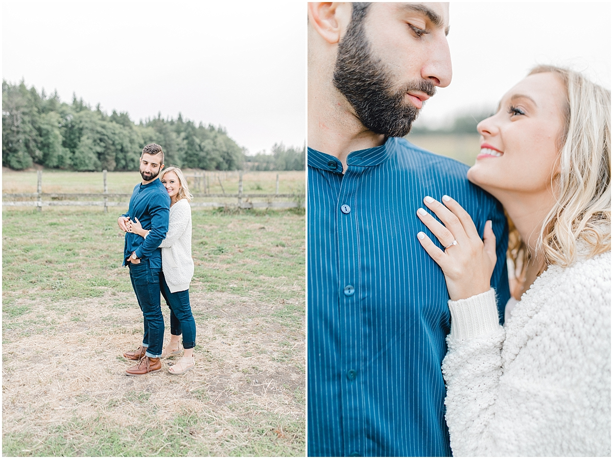 Emma Rose Company | PNW Engagement Session | What to Wear for Pictures | Rose Ranch Engagement | Sunset | Kindred Presets | Seattle Wedding Photographer Light and Airy_0272.jpg