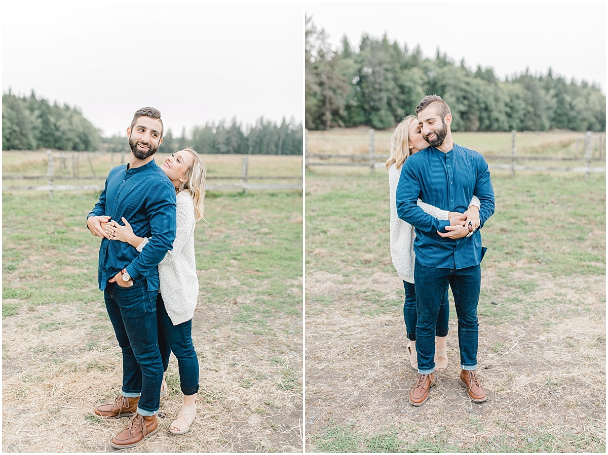 Emma Rose Company | PNW Engagement Session | What to Wear for Pictures | Rose Ranch Engagement | Sunset | Kindred Presets | Seattle Wedding Photographer Light and Airy_0282.jpg