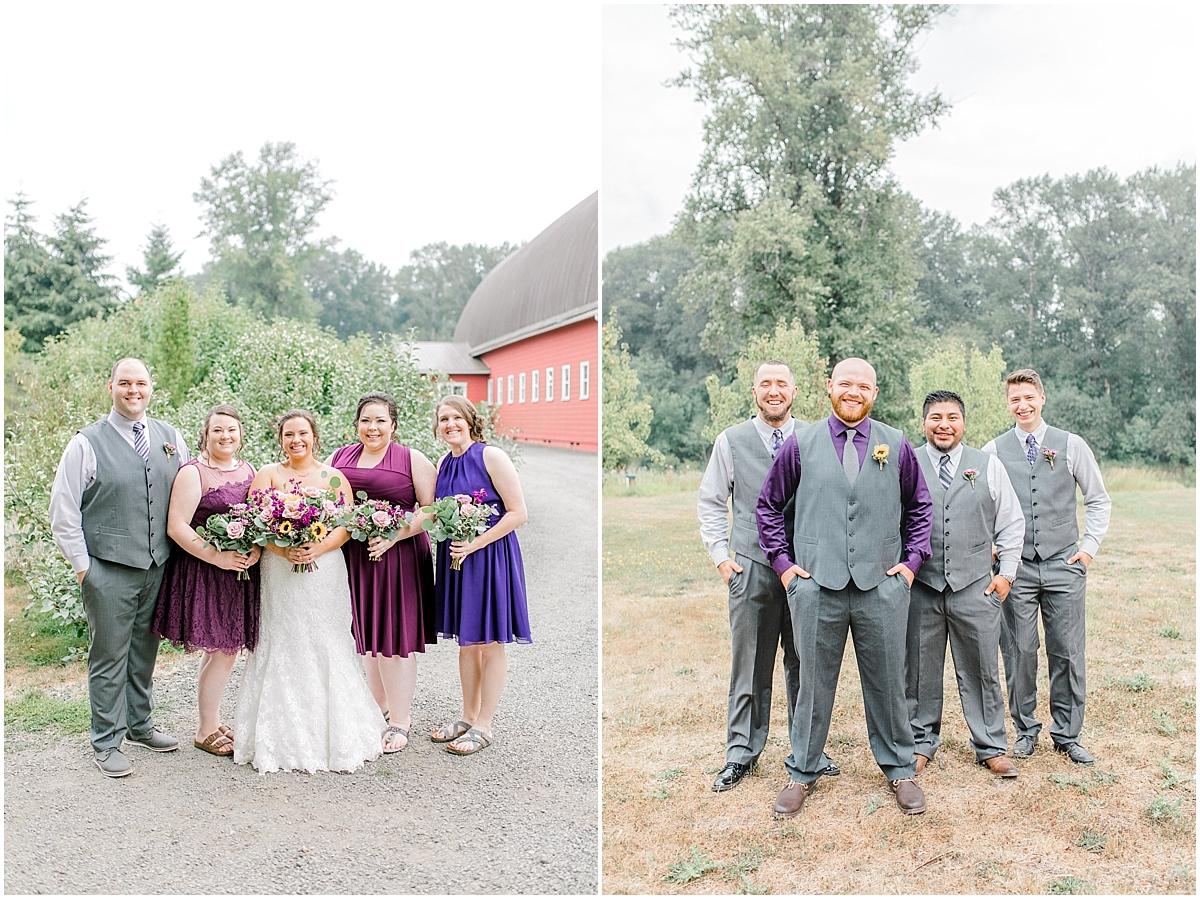Sunflower themed wedding with purple accents, Emma Rose Company Seattle Wedding Photographer, Light and Airy photographer Kindred Presets Wedding Details PNW_0103.jpg