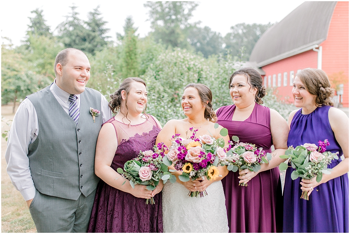 Sunflower themed wedding with purple accents, Emma Rose Company Seattle Wedding Photographer, Light and Airy photographer Kindred Presets Wedding Details PNW_0105.jpg