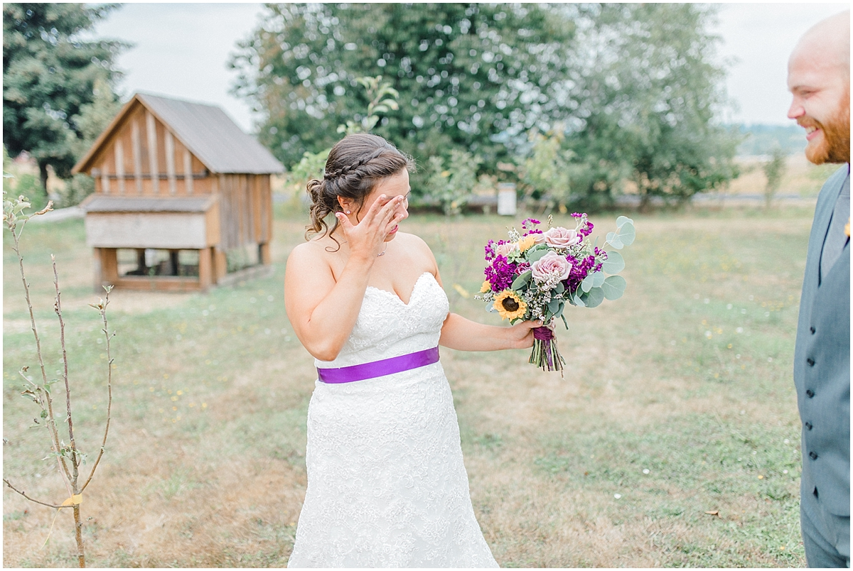 Sunflower themed wedding with purple accents, Emma Rose Company Seattle Wedding Photographer, Light and Airy photographer Kindred Presets Wedding Details PNW_0113.jpg