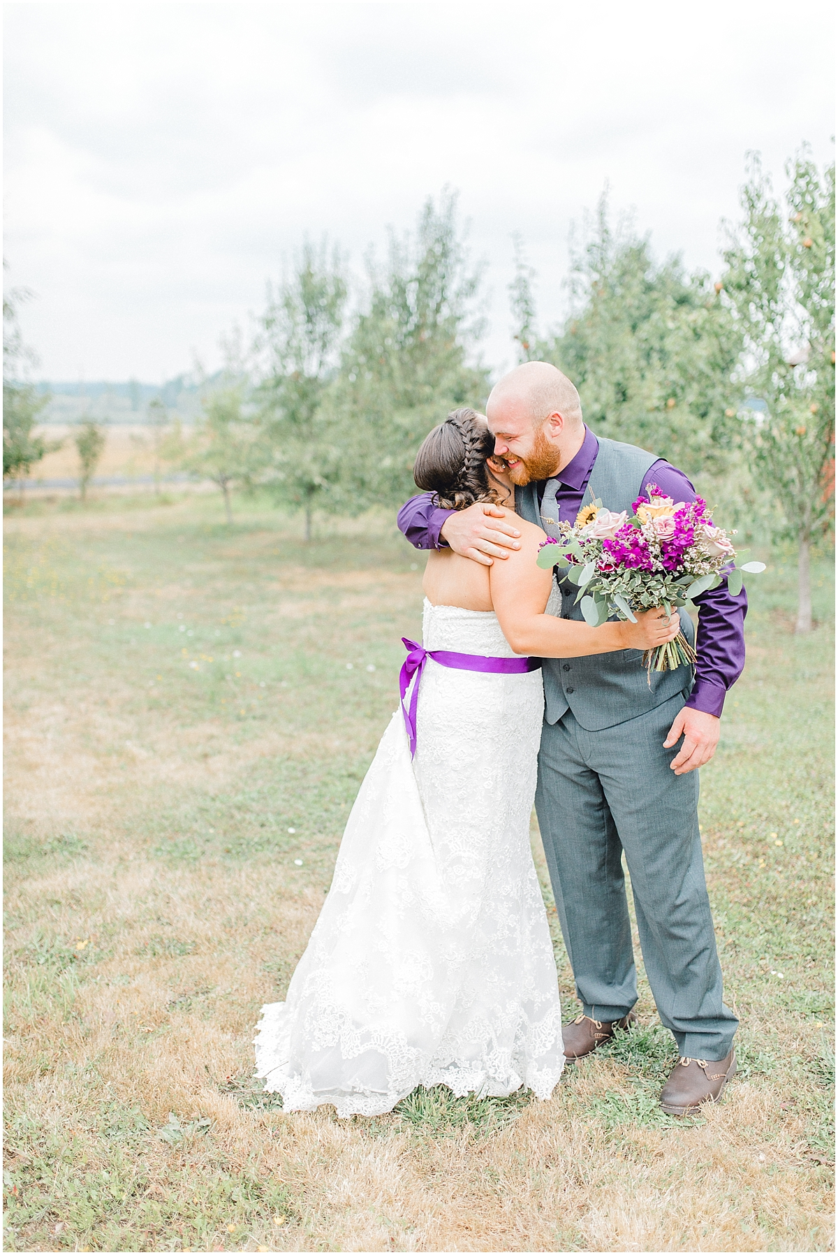 Sunflower themed wedding with purple accents, Emma Rose Company Seattle Wedding Photographer, Light and Airy photographer Kindred Presets Wedding Details PNW_0112.jpg