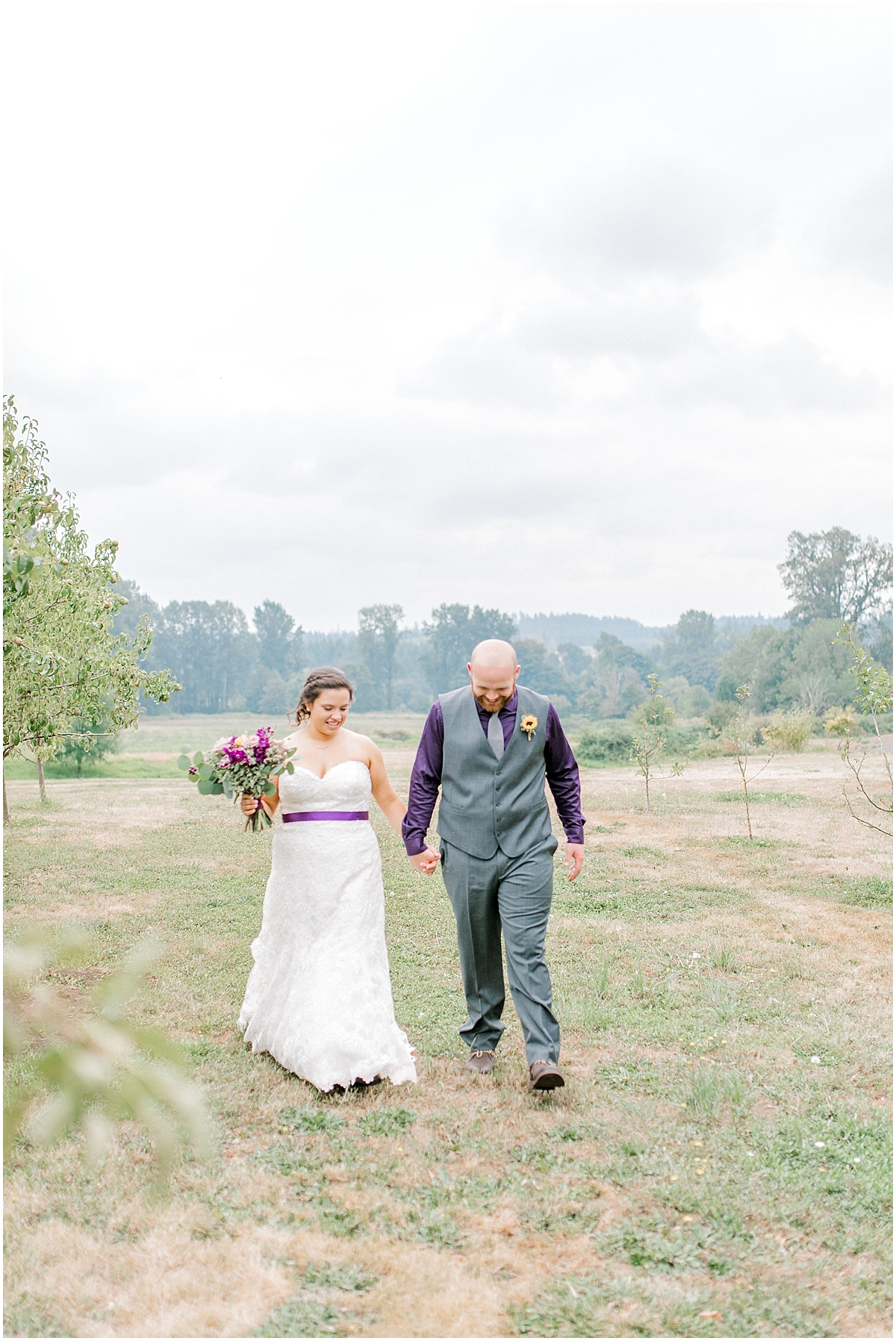 Sunflower themed wedding with purple accents, Emma Rose Company Seattle Wedding Photographer, Light and Airy photographer Kindred Presets Wedding Details PNW_0130.jpg