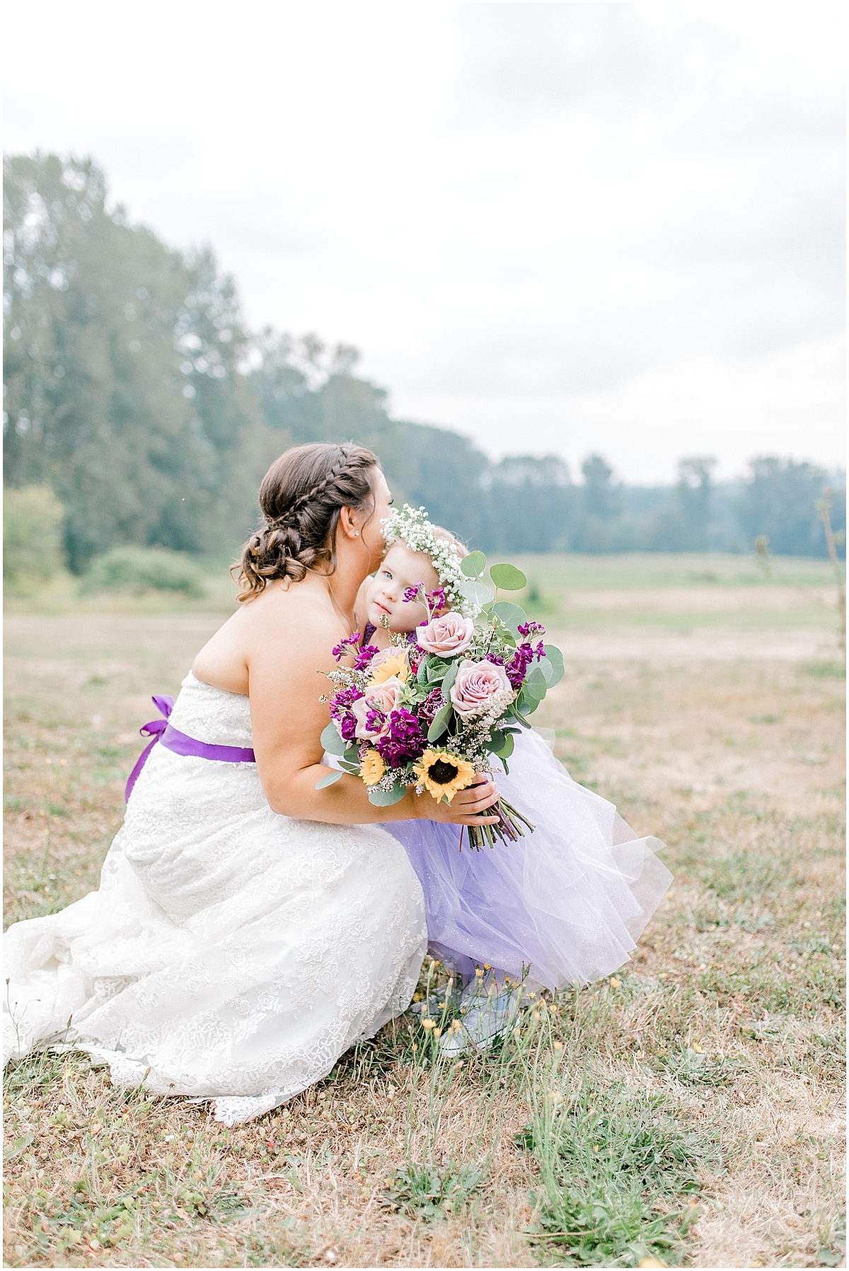 Sunflower themed wedding with purple accents, Emma Rose Company Seattle Wedding Photographer, Light and Airy photographer Kindred Presets Wedding Details PNW_0134.jpg