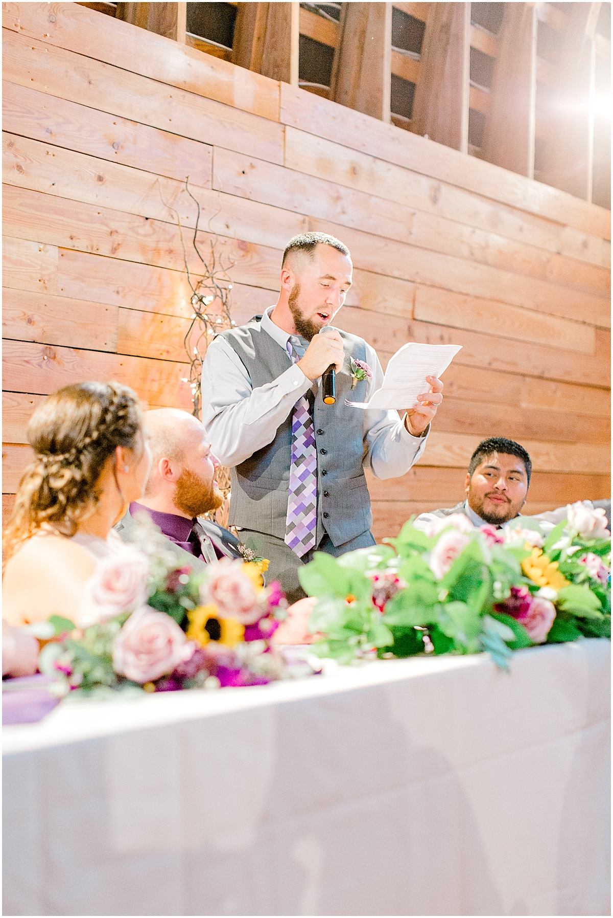 Sunflower themed wedding with purple accents, Emma Rose Company Seattle Wedding Photographer, Light and Airy photographer Kindred Presets Wedding Details PNW_0157.jpg