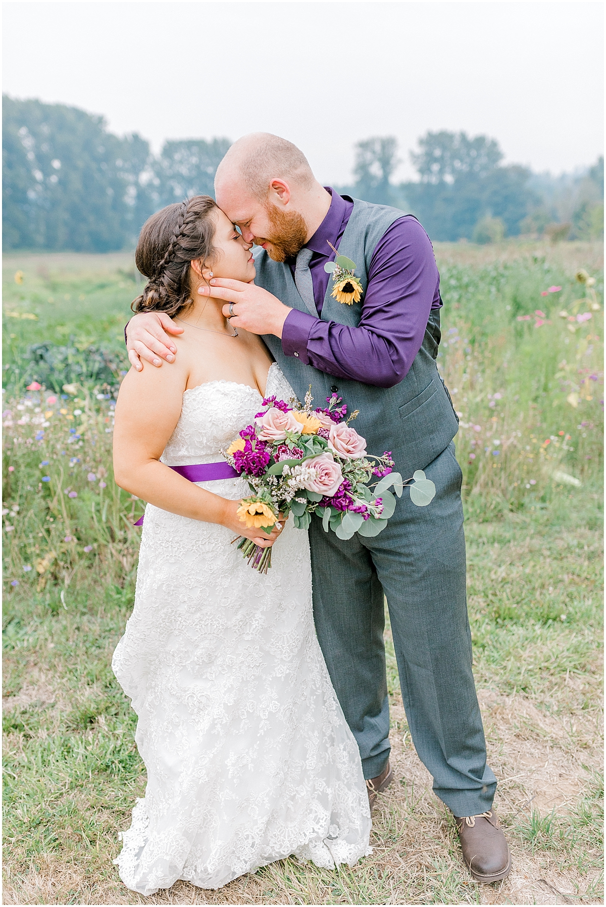 Sunflower themed wedding with purple accents, Emma Rose Company Seattle Wedding Photographer, Light and Airy photographer Kindred Presets Wedding Details PNW_0176.jpg