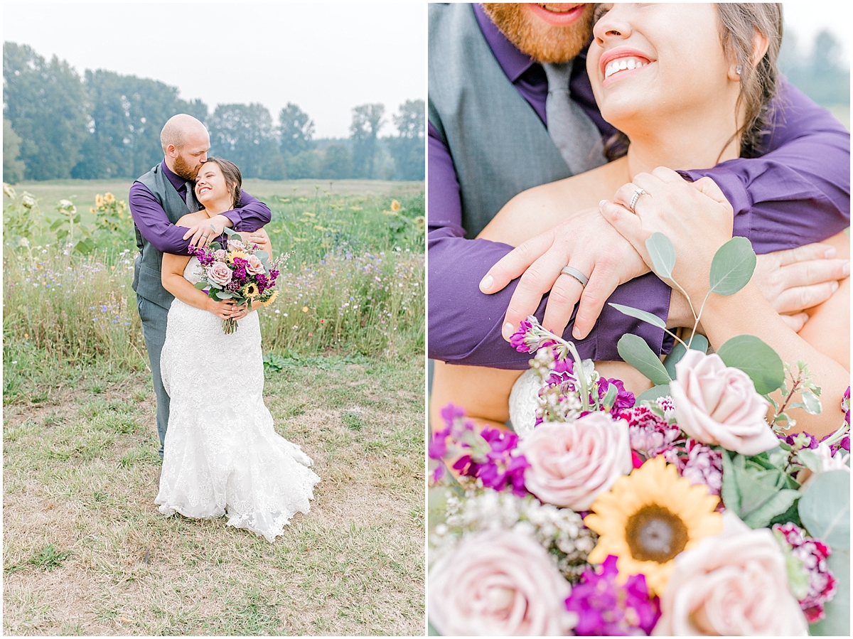 Sunflower themed wedding with purple accents, Emma Rose Company Seattle Wedding Photographer, Light and Airy photographer Kindred Presets Wedding Details PNW_0178.jpg