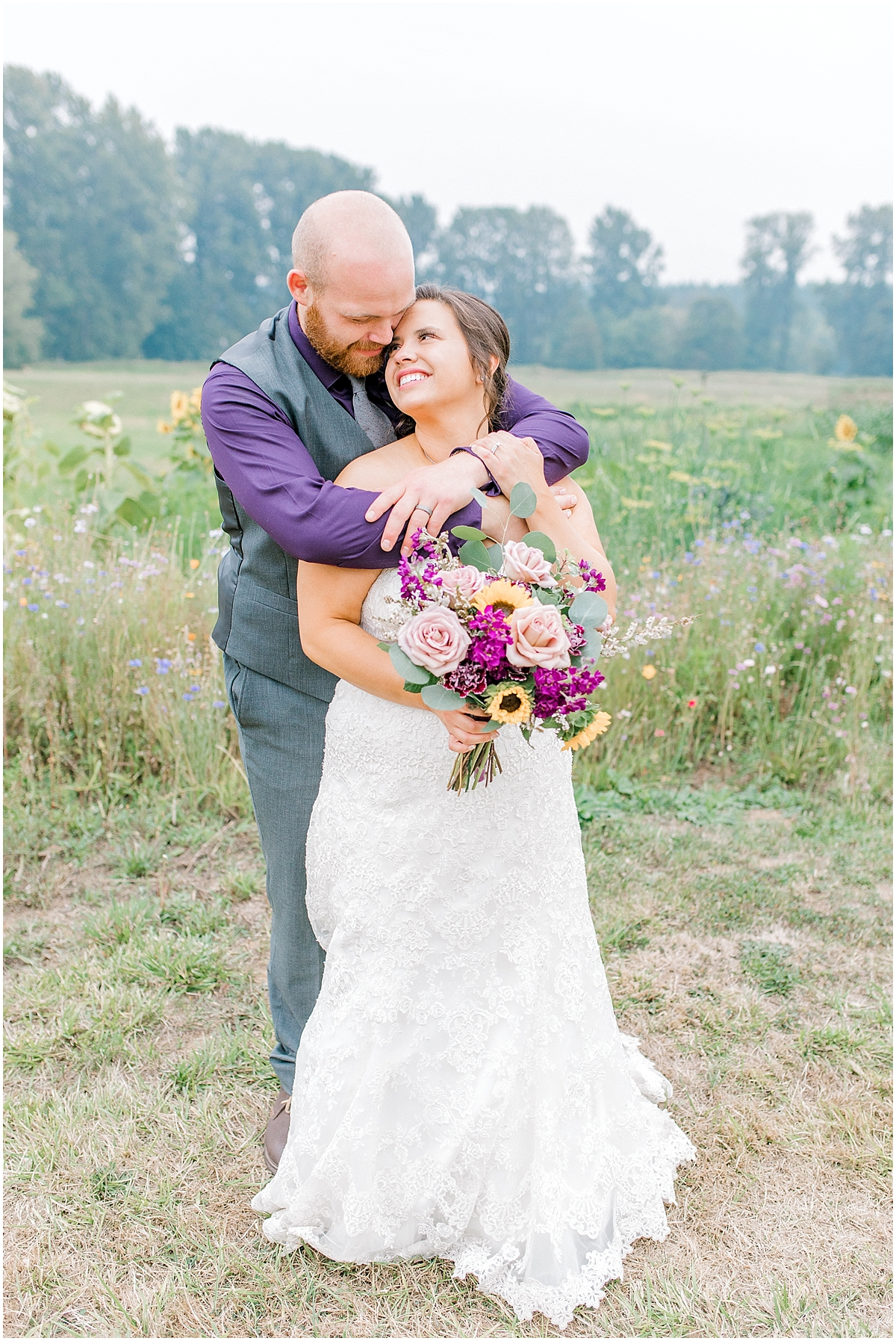 Sunflower themed wedding with purple accents, Emma Rose Company Seattle Wedding Photographer, Light and Airy photographer Kindred Presets Wedding Details PNW_0179.jpg