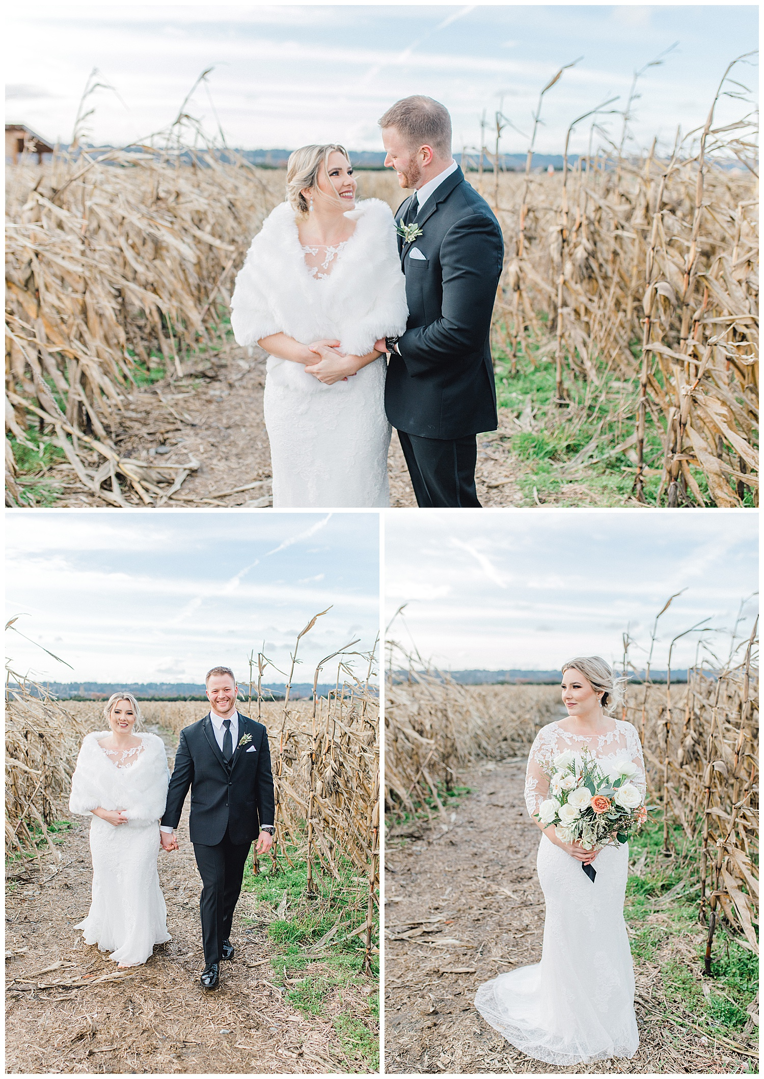 ERC-7431_A beautiful winter wedding in Snohomish, Washington at Thomas Family Farm was simply perfect.  This rustic and modern styled wedding was dripping with romance and photographed by Emma Rose Company, a pacific northwest wedding photographer..jpg