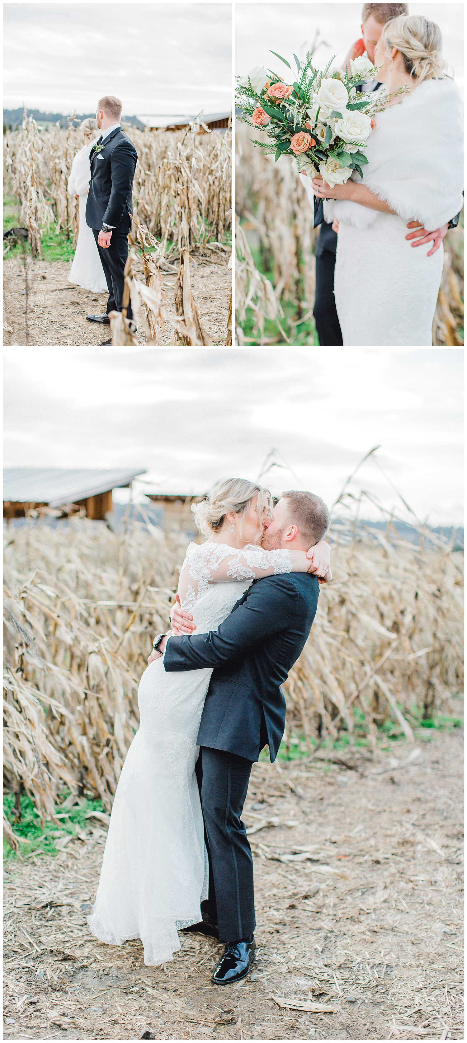 ERC-8915_A beautiful winter wedding in Snohomish, Washington at Thomas Family Farm was simply perfect.  This rustic and modern styled wedding was dripping with romance and photographed by Emma Rose Company, a pacific northwest wedding photographer..jpg