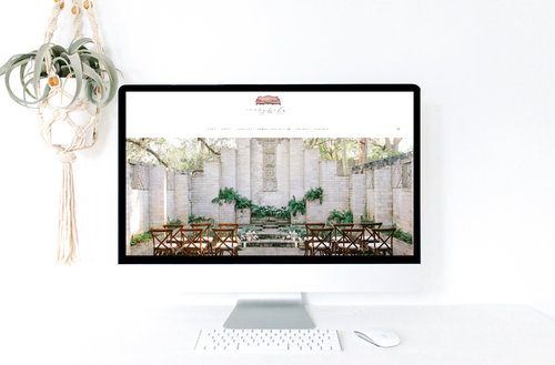 Ivory and Elm is a boutique rental, design, and planning company offering services in Minnesota and worldwide.  Custom Squarespace website design was completed by Emma Rose Company with a color palette of berry, blush, peach and grey.
