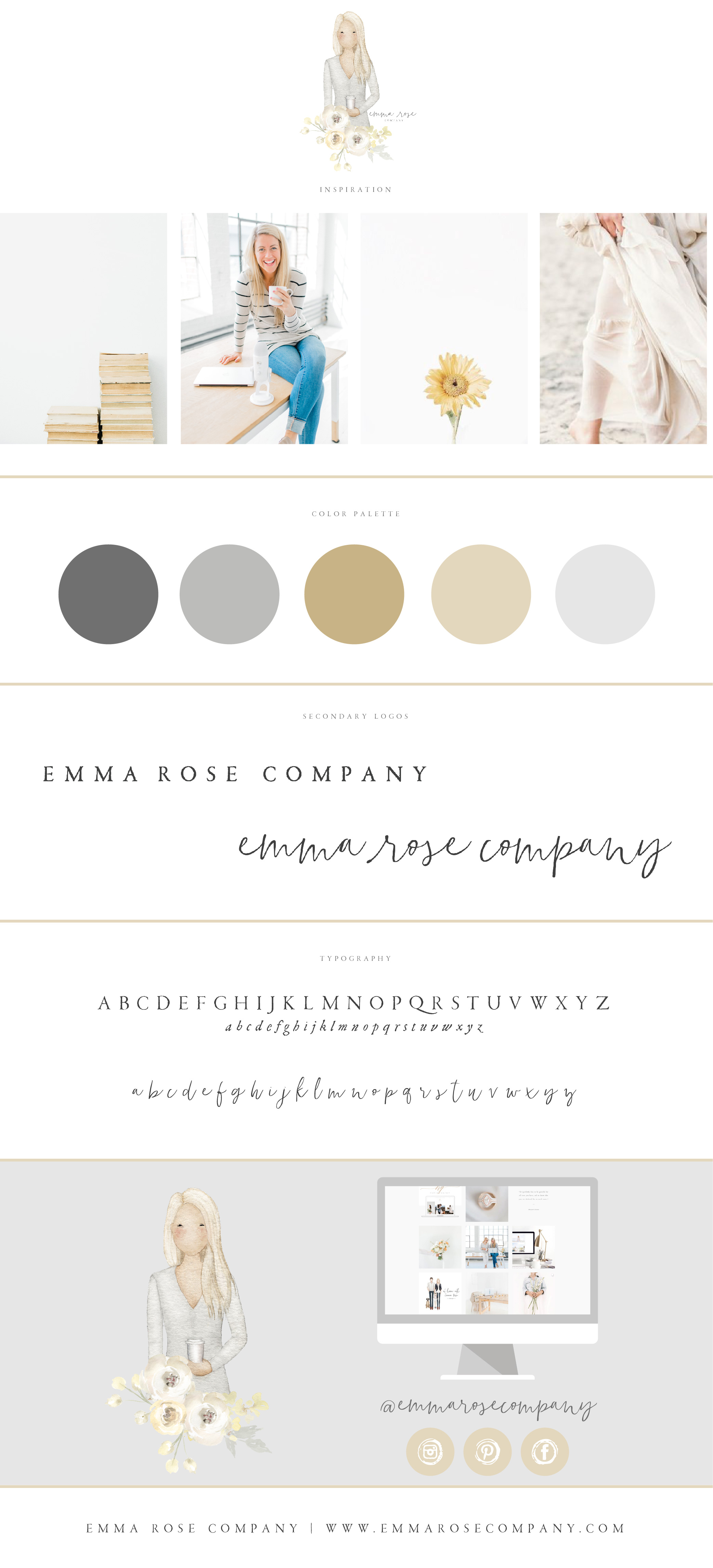 Emma Rose Company Website Launch | Squarespace Website Designer For Photographers | A Branding Journey Emma Rose Photographer Brand Inspiration Board.jpg