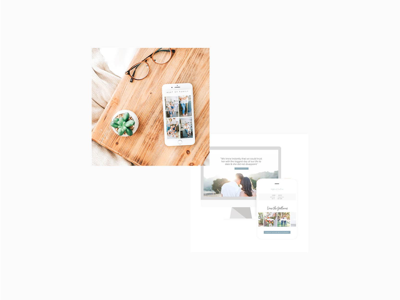 Meghan O'Sullivan Photography custom Squarespace website design by Emma Rose Company.  #squarespace #photographer #beautifulbranding