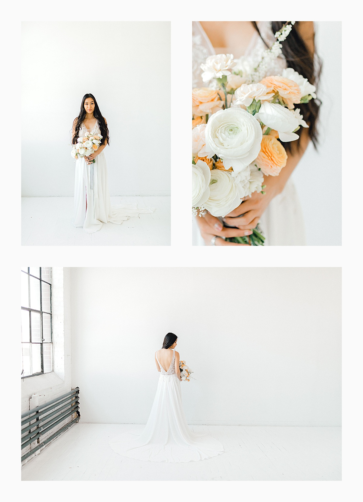 The Bemis Building in downtown Seattle is one of my favorite places to use for photo shoots!  This styled bridal shoot with touches of peach and white was dreamy.  #emmarosecompany #kindredpresets #seattlebride_0013.jpg