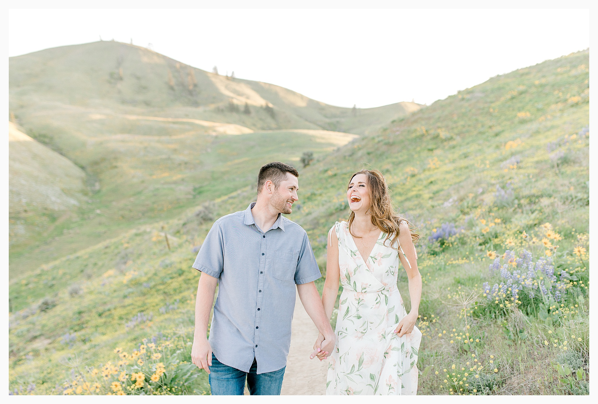 Engagement session amongst the wildflowers in Wenatchee, Washington | Engagement Session Outfit Inspiration for Wedding Photography with Emma Rose Company | Light and Airy PNW Photographer, Seattle Bride_0012.jpg