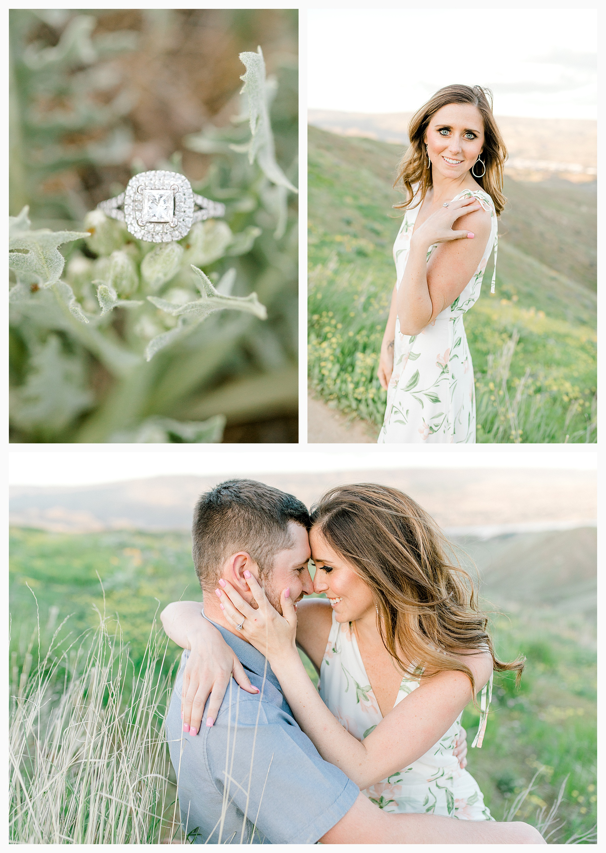 Engagement session amongst the wildflowers in Wenatchee, Washington | Engagement Session Outfit Inspiration for Wedding Photography with Emma Rose Company | Light and Airy PNW Photographer, Seattle Bride_0015.jpg