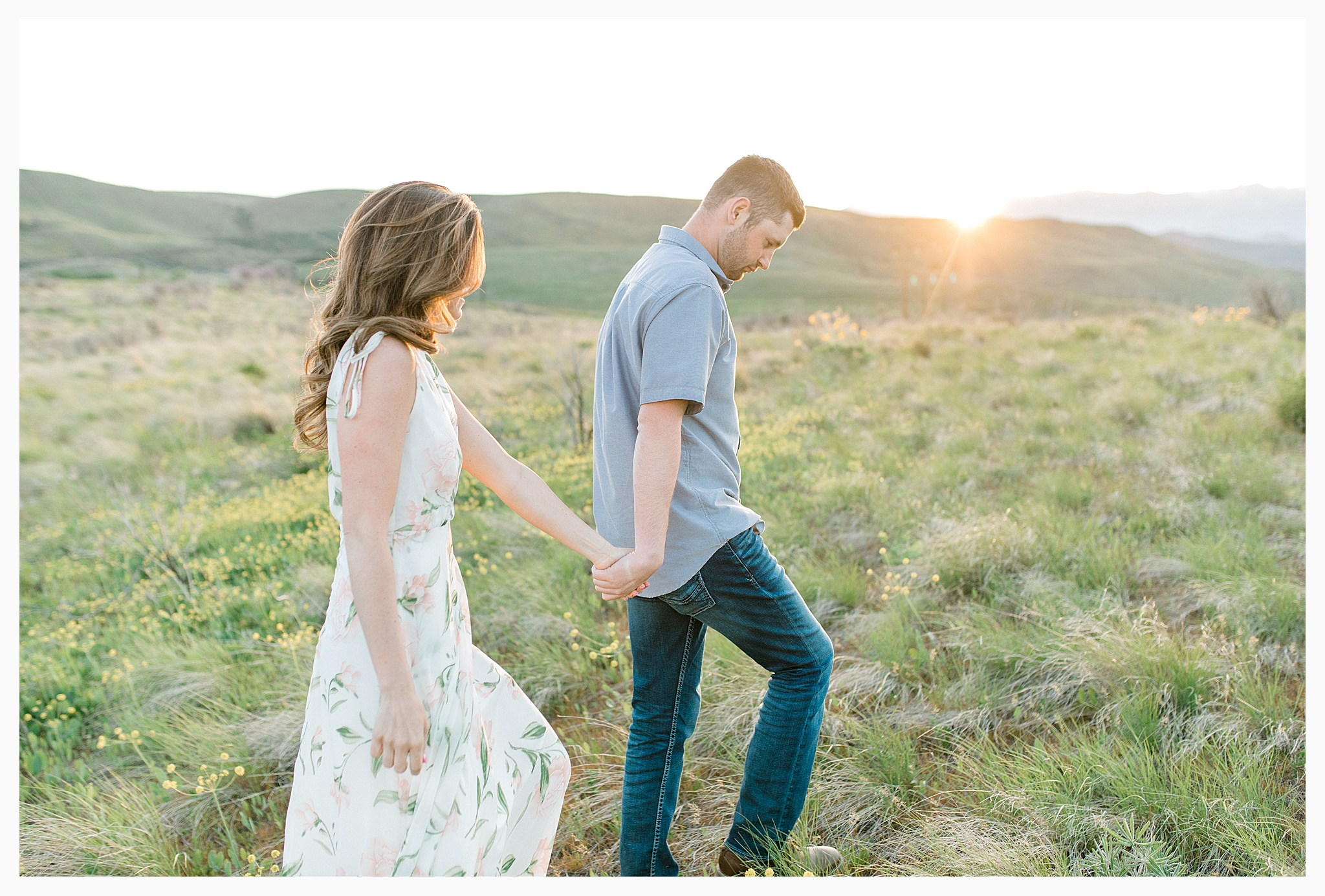 Engagement session amongst the wildflowers in Wenatchee, Washington | Engagement Session Outfit Inspiration for Wedding Photography with Emma Rose Company | Light and Airy PNW Photographer, Seattle Bride_0032.jpg