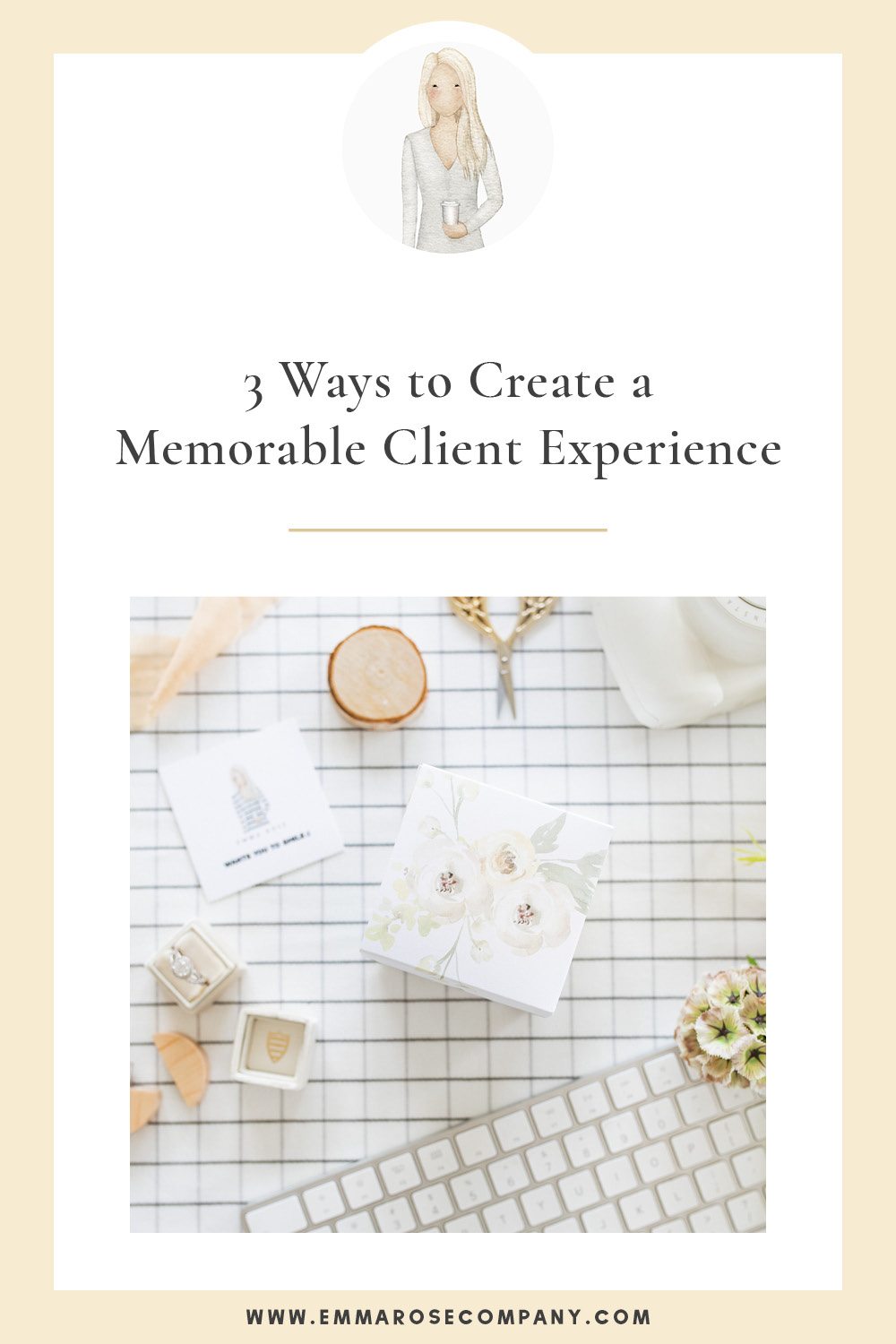 Today I want to dive into 3 things I feel are so important when it comes to creating a memorable and meaningful client experience.  You'll also want to read all the way through to snag a copy of my own workflow to stay on top of the client experience!  I personally use #Greetabl for all my client gifting and couldn't imagine anything better!  #emmarosecompany #clientgifts #gifting #businesstips