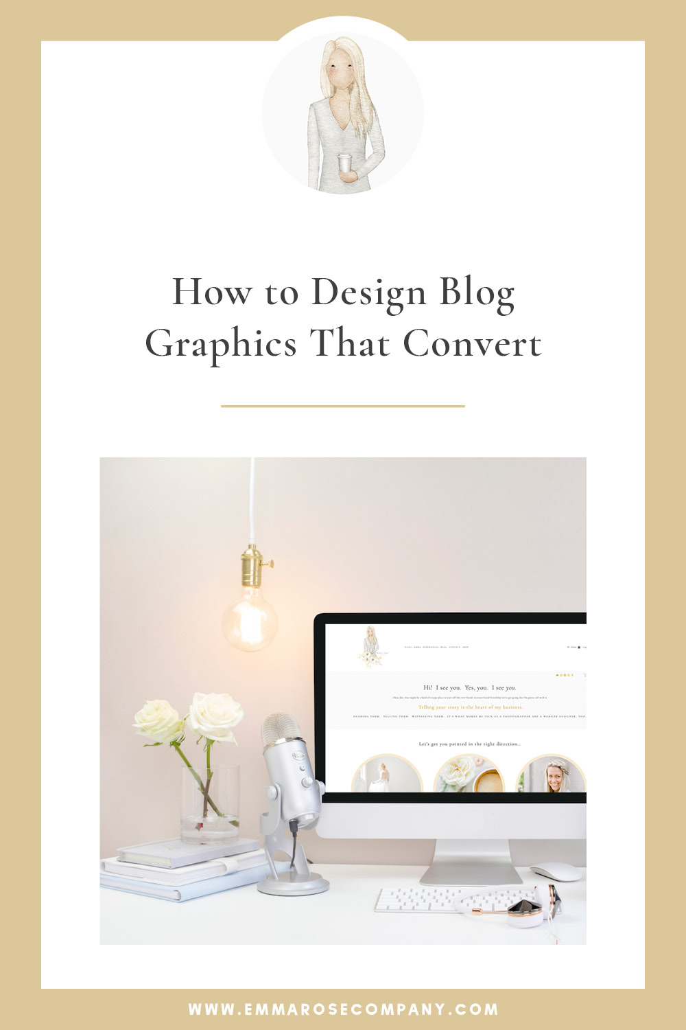 How to Create Beautiful Blog Graphics with Adobe Illustrator | Emma Rose Company Squarespace Website Designer | How to Create Blog Graphics that Convert