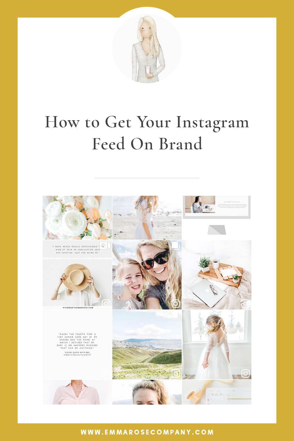 How to Get Your Instagram Feed on Brand | Emma Rose Company | Social Media Tips