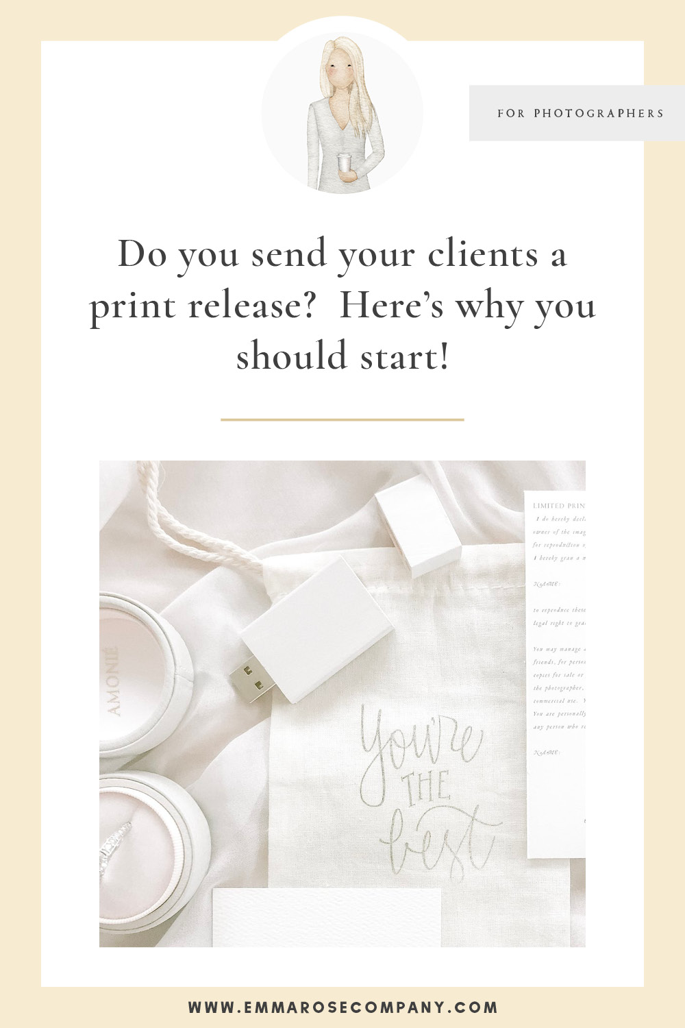 Do You Send Your Clients a Print Release Form? As photographers, it's important to protect yourself... and your clients.  A print release form is different than copyright, click on in to read more and learn all about why you should be sending your clients on of these after every single photo shoot!  #tipsforphotographers #photographytips #printrelease