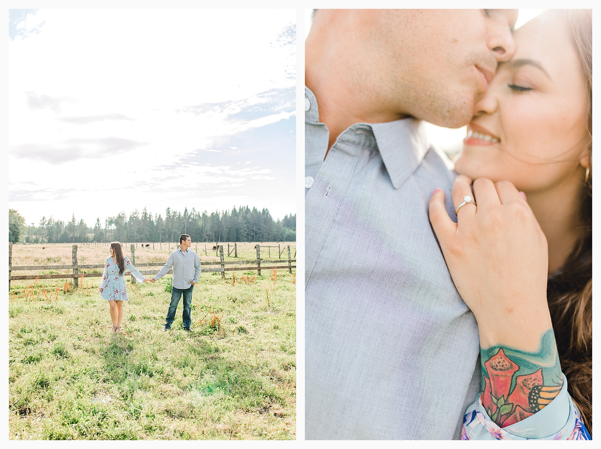 Beautiful evening engagement session on Rose Ranch, Emma Rose Company Seattle and Portland light and airy wedding and portrait photography, what to wear for pictures_0029.jpg