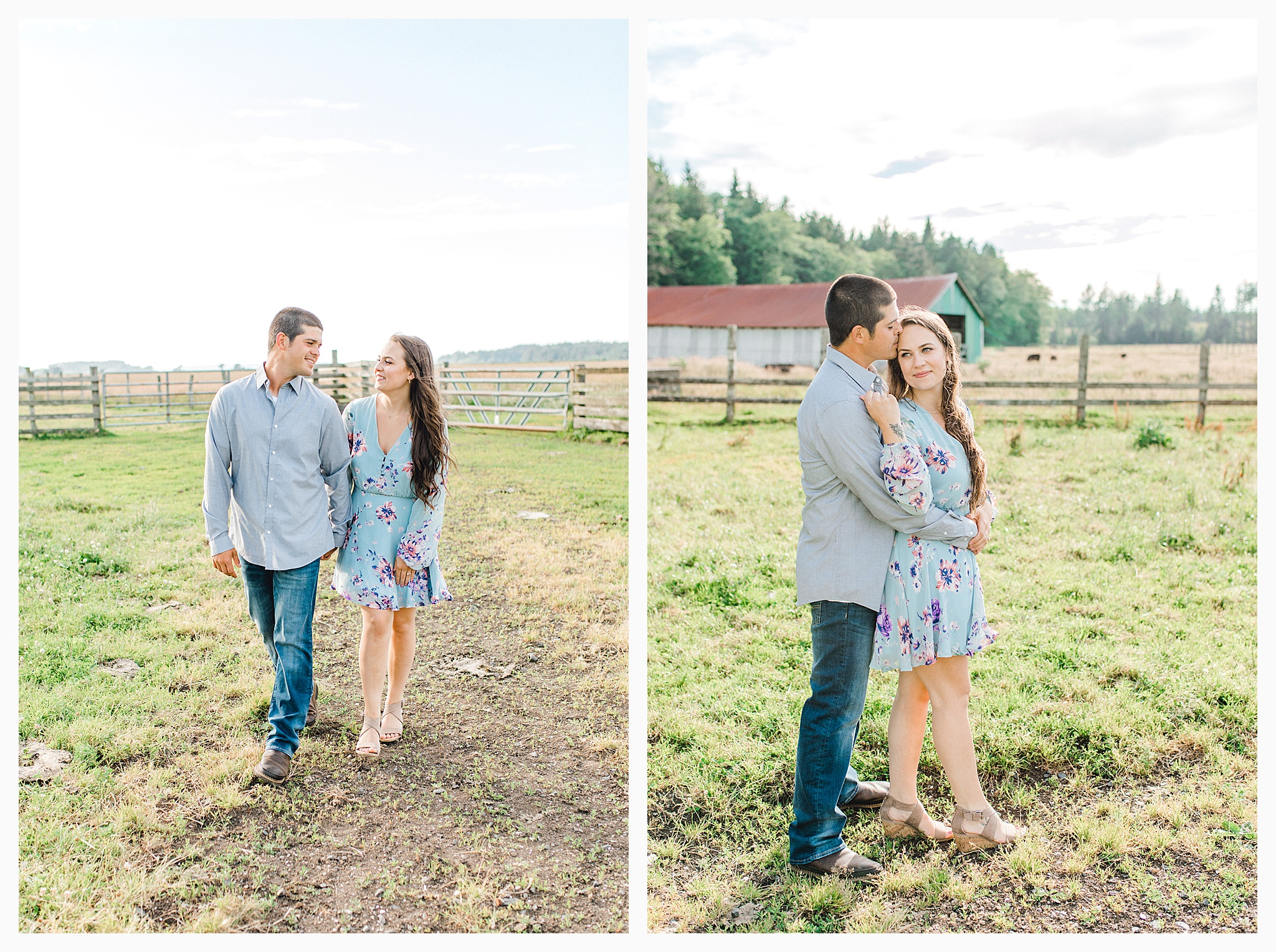 Beautiful evening engagement session on Rose Ranch, Emma Rose Company Seattle and Portland light and airy wedding and portrait photography, what to wear for pictures_0027.jpg