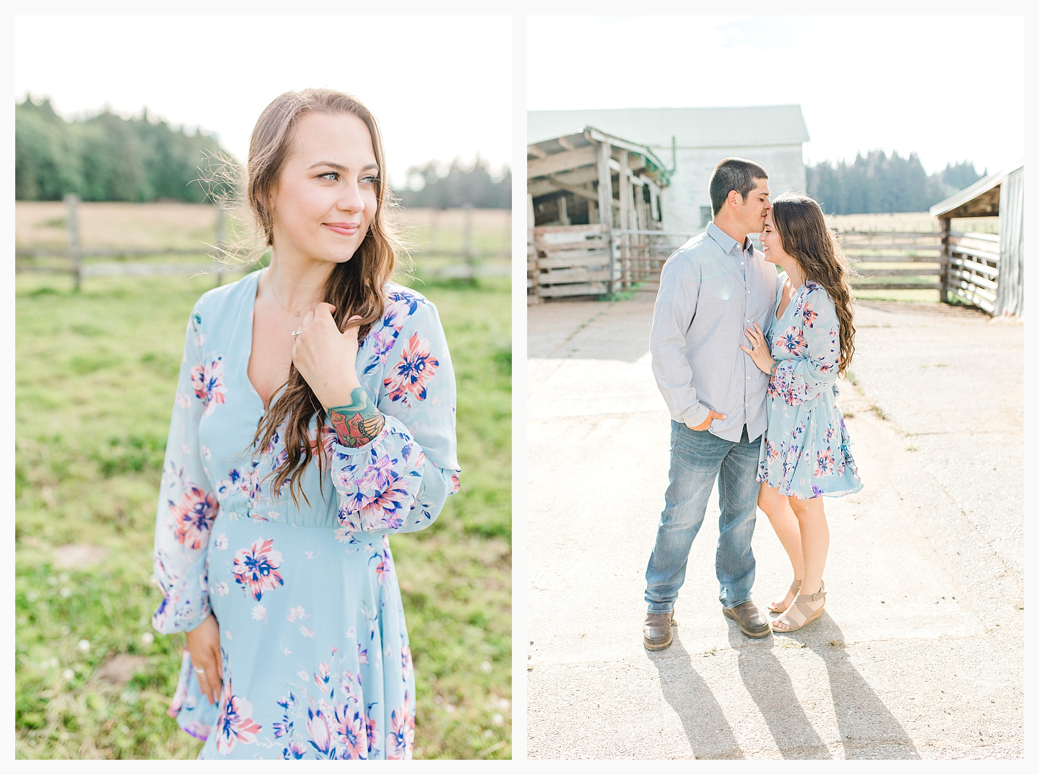 Beautiful evening engagement session on Rose Ranch, Emma Rose Company Seattle and Portland light and airy wedding and portrait photography, what to wear for pictures_0025.jpg