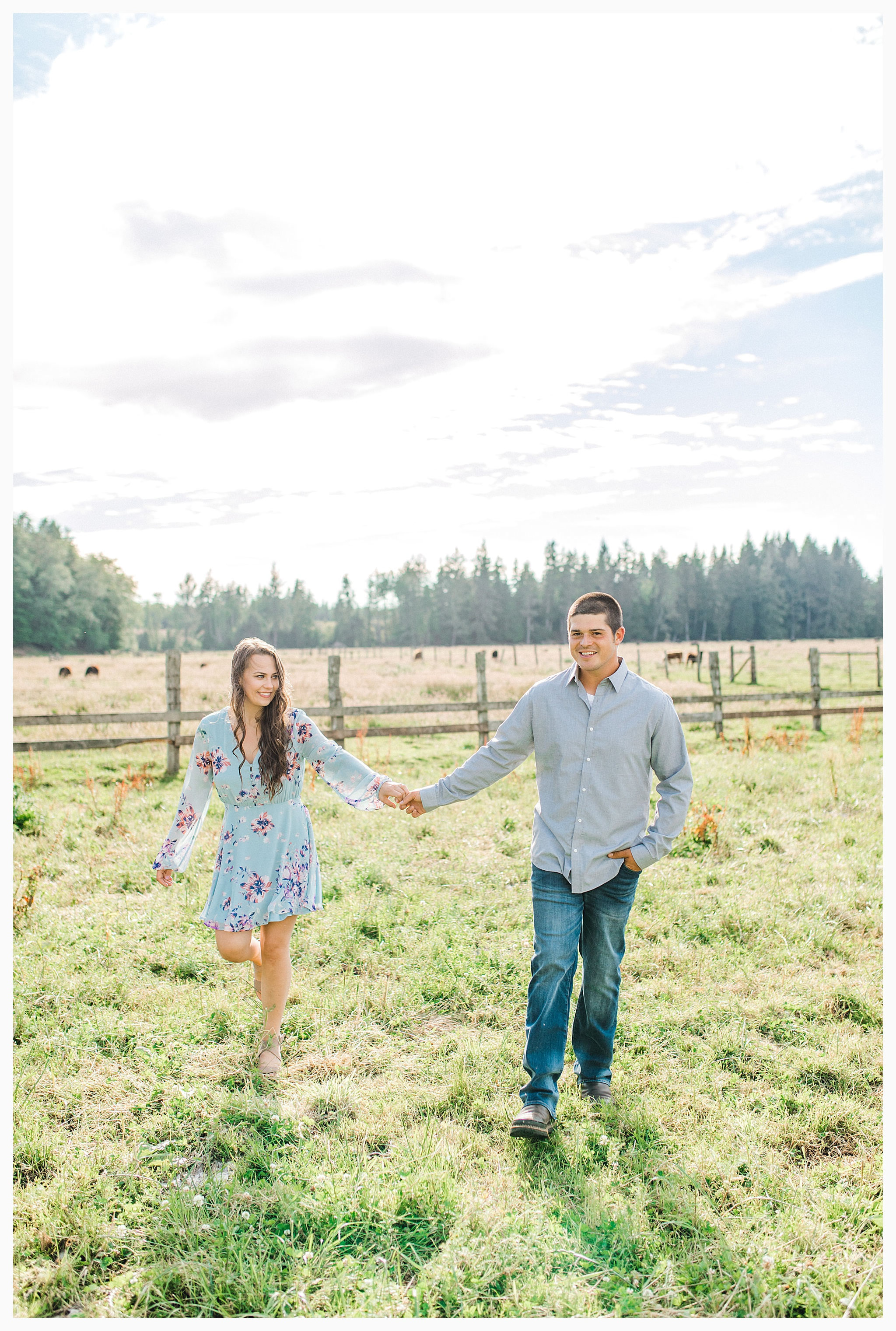 Beautiful evening engagement session on Rose Ranch, Emma Rose Company Seattle and Portland light and airy wedding and portrait photography, what to wear for pictures_0023.jpg