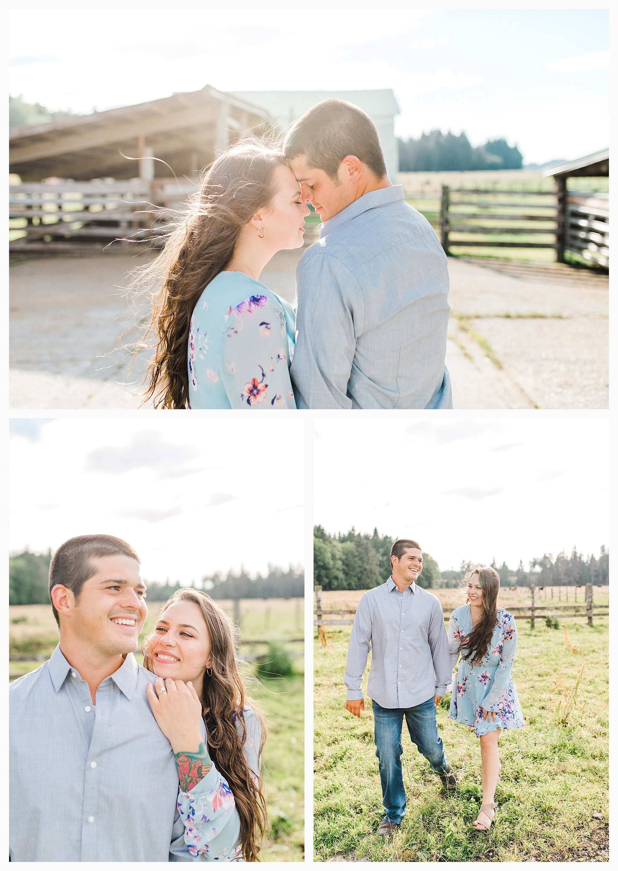 Beautiful evening engagement session on Rose Ranch, Emma Rose Company Seattle and Portland light and airy wedding and portrait photography, what to wear for pictures_0022.jpg