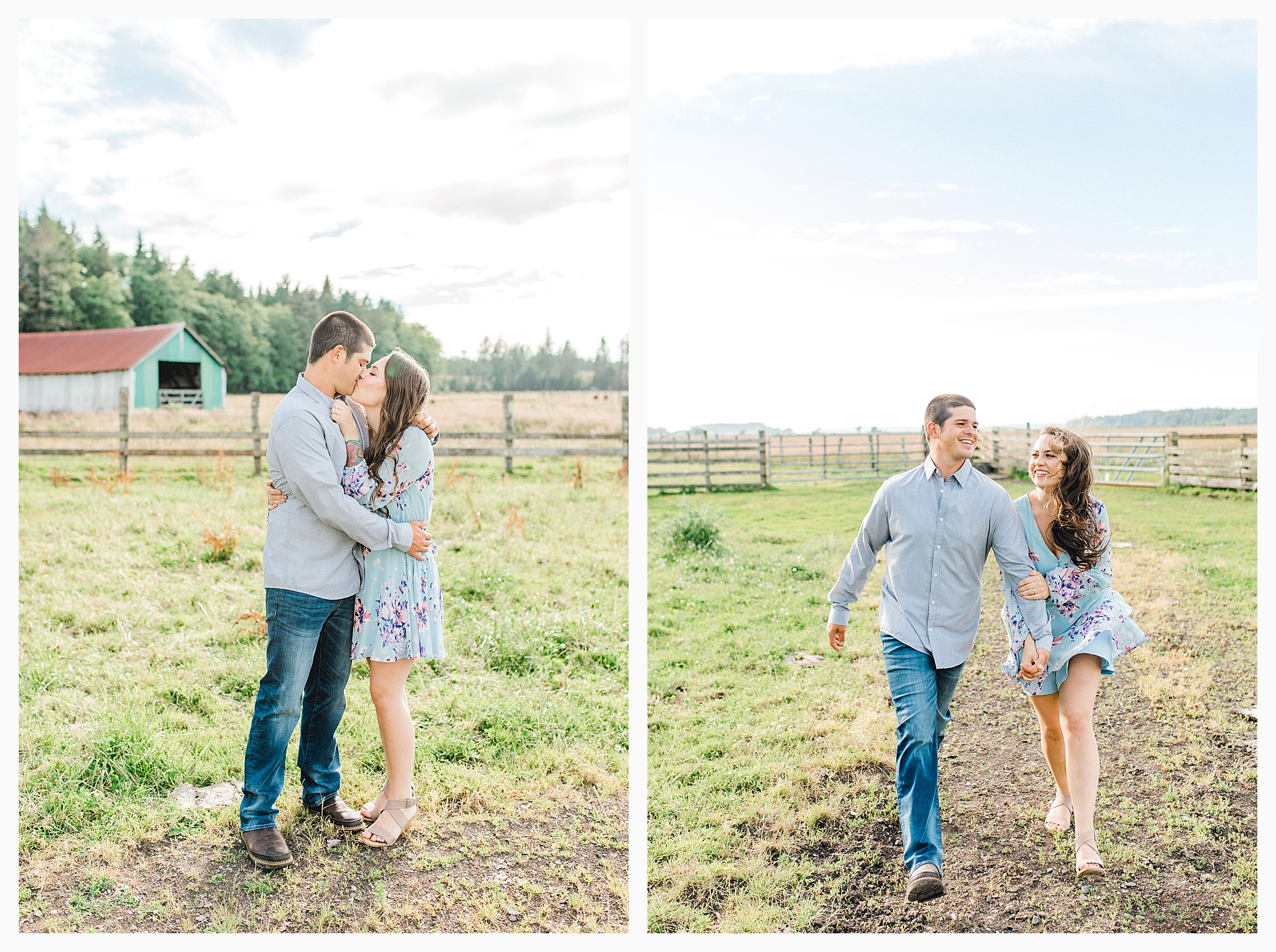 Beautiful evening engagement session on Rose Ranch, Emma Rose Company Seattle and Portland light and airy wedding and portrait photography, what to wear for pictures_0021.jpg