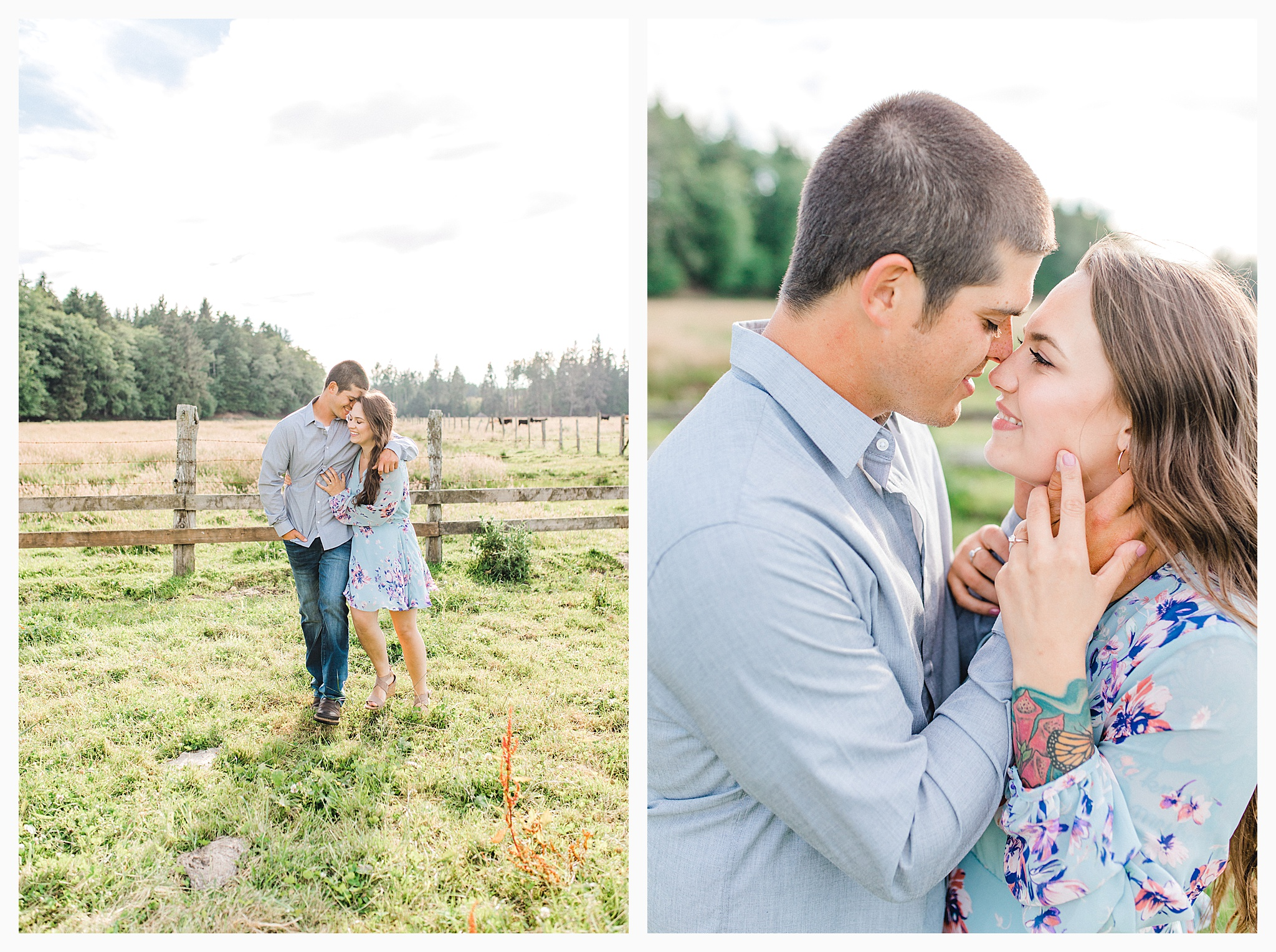 Beautiful evening engagement session on Rose Ranch, Emma Rose Company Seattle and Portland light and airy wedding and portrait photography, what to wear for pictures_0018.jpg
