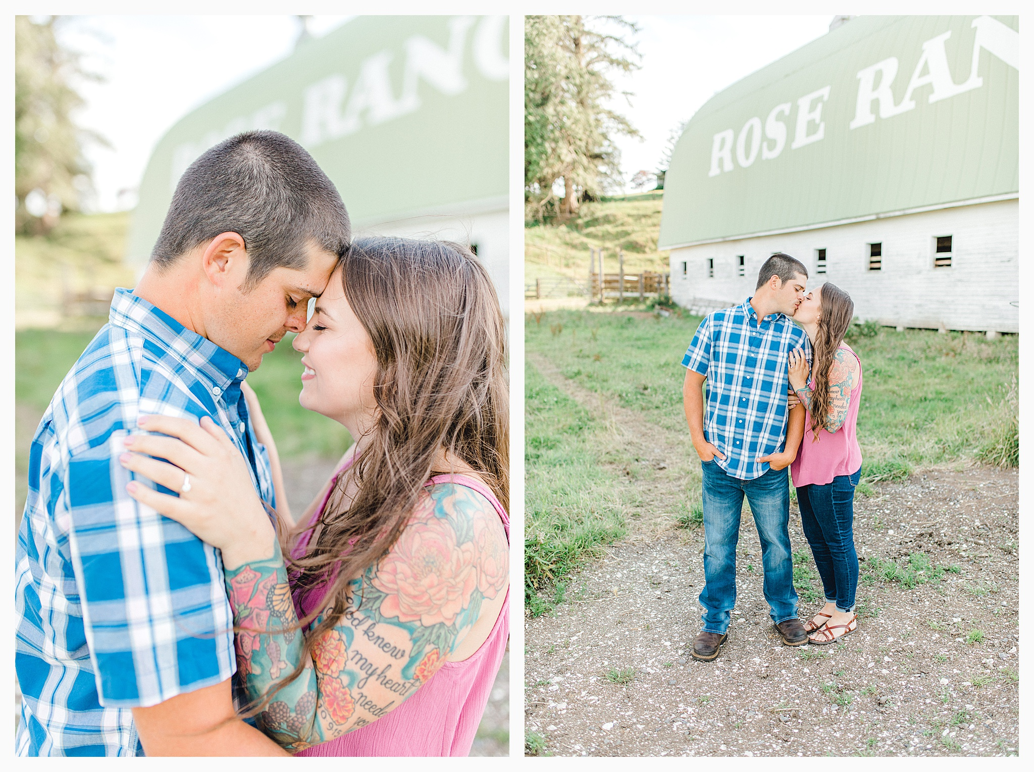 Beautiful evening engagement session on Rose Ranch, Emma Rose Company Seattle and Portland light and airy wedding and portrait photography, what to wear for pictures_0008.jpg