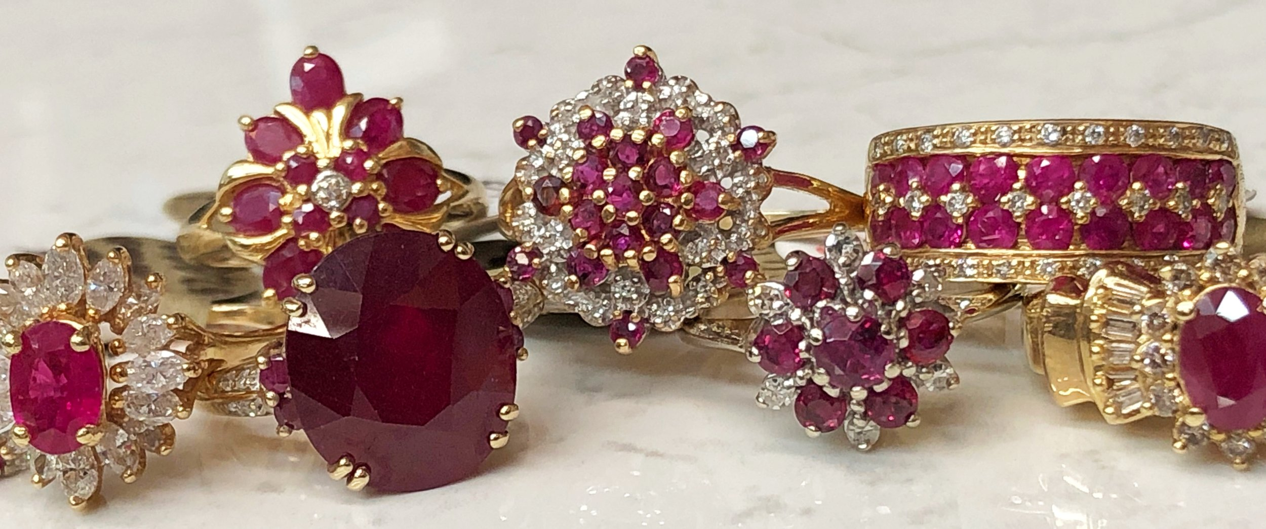 A sampling of just a few of our Ruby rings