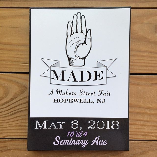 We're gearing up for Sunday, Hopewell! Hope to see you there #handmadehopewell