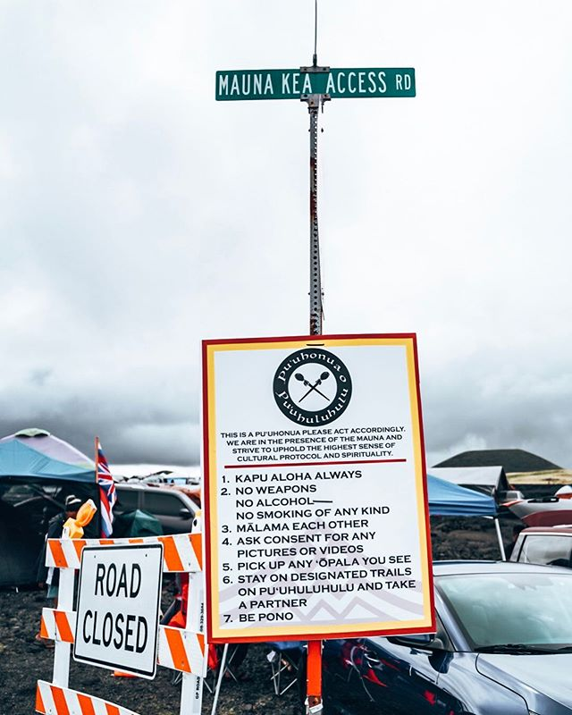 Road Closed until TMT moves on elsewhere. ALOHA ✌🏽. #kapualoha #alohaaina #maunamajority #maunaready🔺️ #kukiaimauna #wearemaunakea #maunakea @protectmaunakea @puuhuluhulu