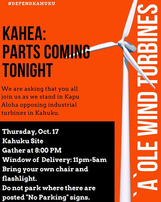 T O N I G H T. Kahuku needs your help. Help us stand up and unite as we make our voices heard against 8 Monster Wind Turbines. Green Energy shouldn't come at the cost of the people, endangered indigenous species, and the ecosystem. The community and surrounding communities have opposed this for the last 10 years. 🦇✊🏽 #aolewindturbines #kukiaikahuku #savetheopeapea #aoleAES #kukiaimauna @hawaiinewsnow @holladayphoto @meanhawaii @kukiaikahuku_aolewindturbines @kitv4 @civilbeat @prideofgypsies @npr @khonnews @milekalincoln @kumuhina