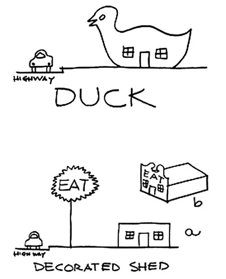 Robert Venturi's Duck vs Decorated Shed